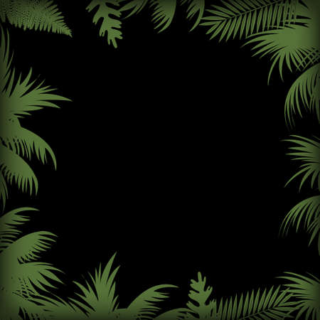 Abstract background with palm tree leaves. Vector