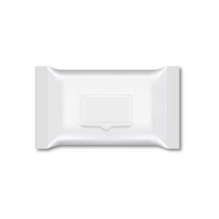 Leere Packung mit feuchtem Wischtuch für Ihr Design. Vektor