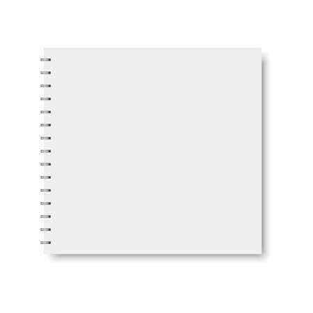 Realistic spiral notebook template. Vector.