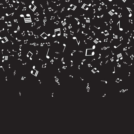 Musical background with musical notes for your design. Vector.