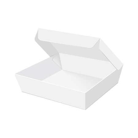 Leere Verpackung für Fast Food zum Mitnehmen. Vektor