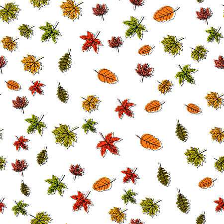 Seamless pattern with autumn leaves. Thanksgiving day. Vector.