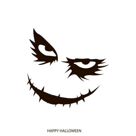 Happy Halloween mask background. Vector