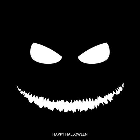 Happy Halloween mask background. Vector.