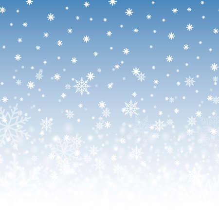 Winter background with snowflakes for Christmas or New Year. Vector. Ilustrace