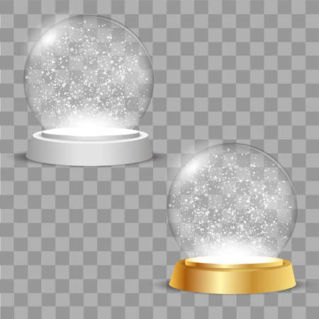 Christmas globes on transparent background. Vector