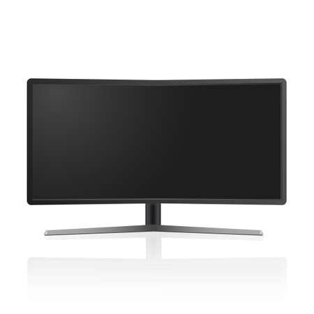 Realistic TV monitor mockup isolated. Vector Illustration