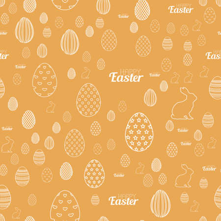 Seamless pattern with ornaments for Easter. Vector Ilustrace