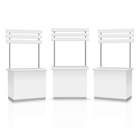 Blank Promotion Stands on a white background. Vector.