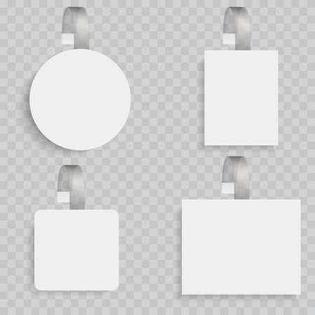 White blank wobblers. 3d sale discount plastic tags vector 矢量图像