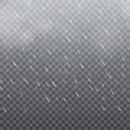 Foggy rainy weather in transparent background. Vector. Illustration
