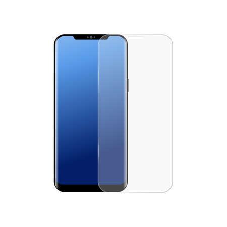 Realistic smartphone screen protector . Vector