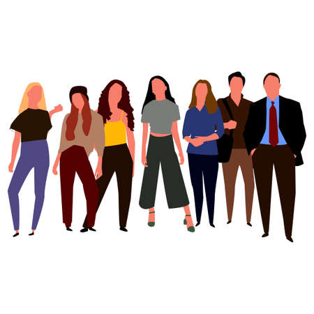 Set of people with different professions. Vector 向量圖像