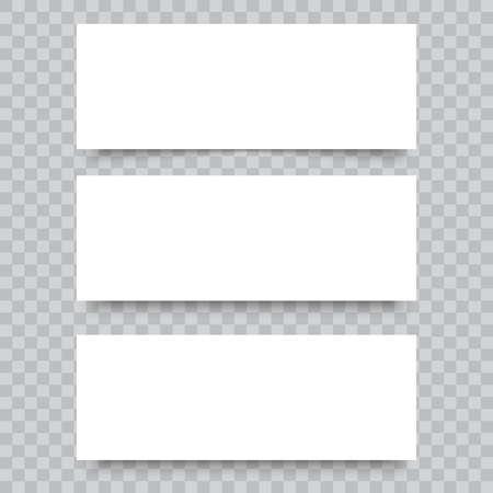 Blanco visitekaartjes op transparante achtergrond. Vector. Vector Illustratie