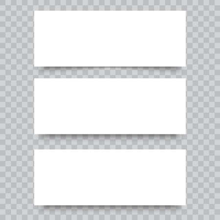 Espacio en blanco de tarjetas de visita sobre fondo transparente. Vector. Ilustración de vector