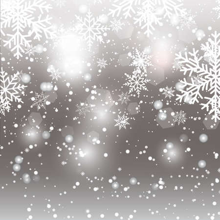 Christmas background with falling snowflakes. Vector