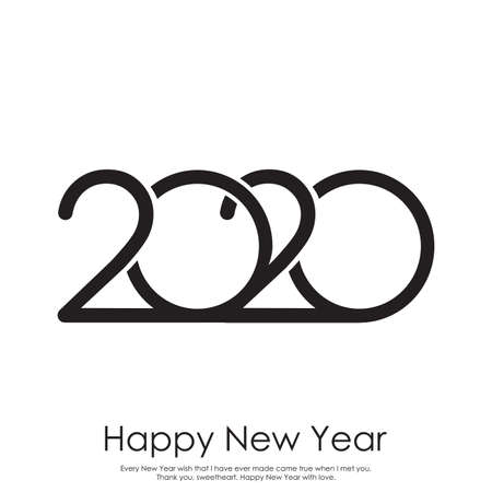 Happy new year 2020 typography vector design for greeting cards . Vector.