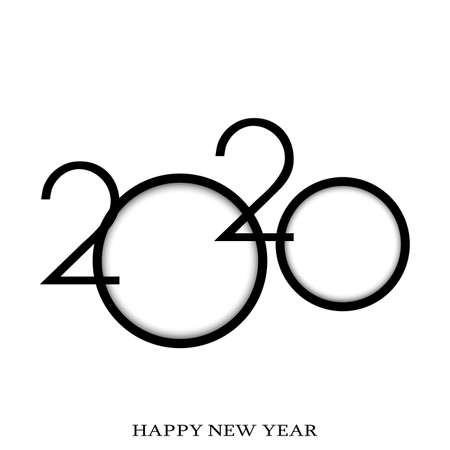Happy new year 2020 typography vector design for greeting cards . Vector Ilustracja