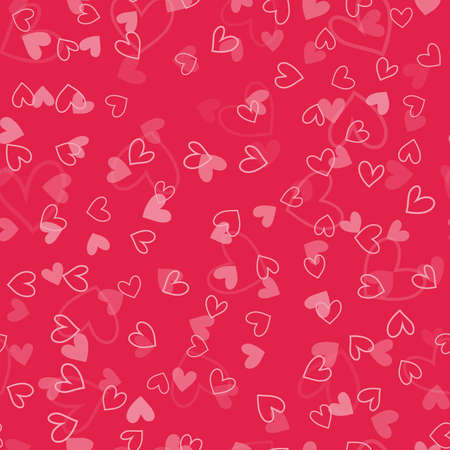 Seamless Valentines Day pattern with elements. Vector