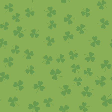 Seamless pattern with shamrock for Saint Patricks day. Vector