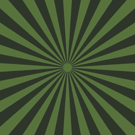 Abstract green yellow sun rays background. Vector
