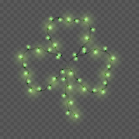 Shamrock made from lamps. Vector