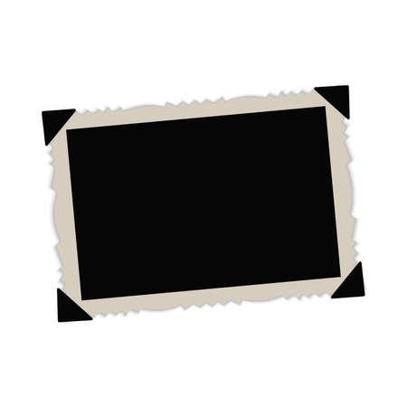 Vintage paper picture frame. Vector.