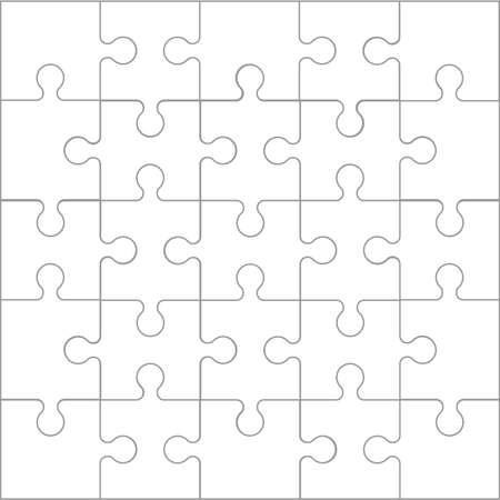 Set puzzle pieces. Texture mosaic background. Vector.