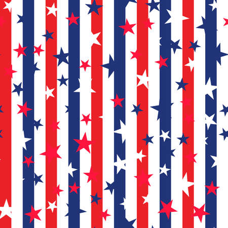 Seamless pattern for USA Independence Day Background. Vector