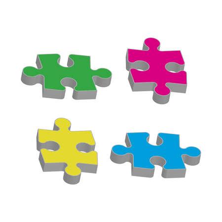 Set puzzle pieces. Texture mosaic background. Vector  イラスト・ベクター素材