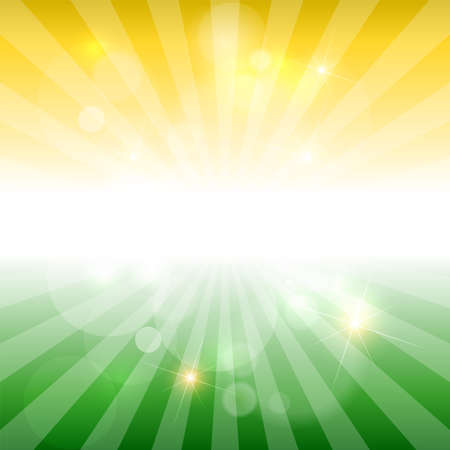Abstract background with sun rays. Vector.