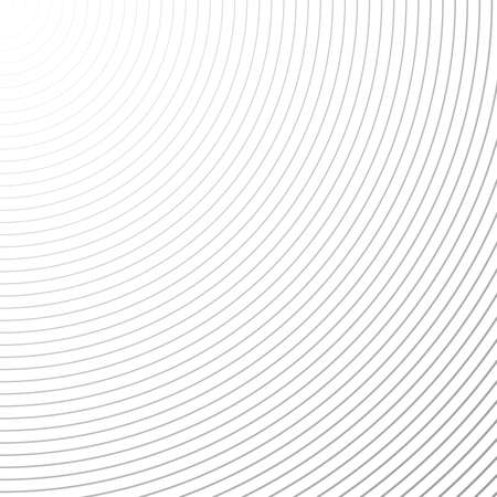 Radial texture, black and white. Vector background.