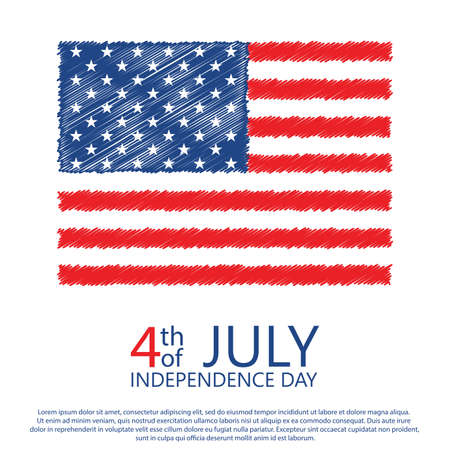 American Happy Independence Day background. Vector illustration Stockfoto - 149904161