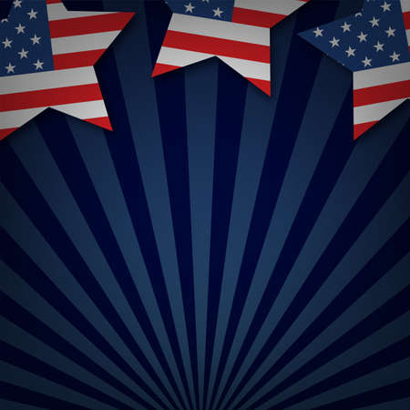 American Happy Independence Day background. Vector illustration  イラスト・ベクター素材