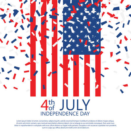 American Happy Independence Day background. Vector illustration Stockfoto - 149904125