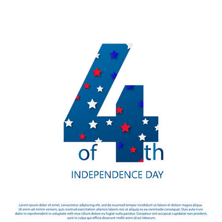 American Happy Independence Day background. Vector illustration Stockfoto - 149905485