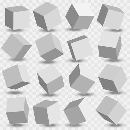 3d modeling white cubes. White cubes. Vector. Stockfoto - 150331401