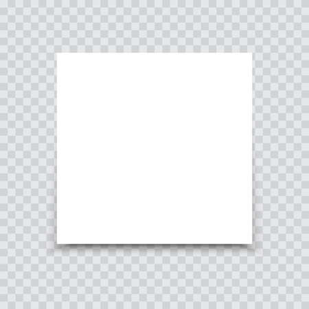 White sheet of paper on a transparent background. Vector.