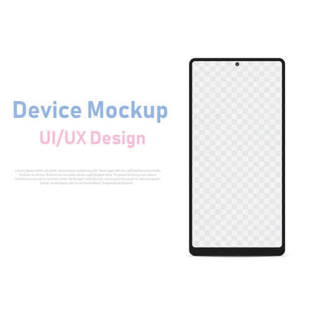 Smartphone template for infographics or presentation UI design interface. Vector