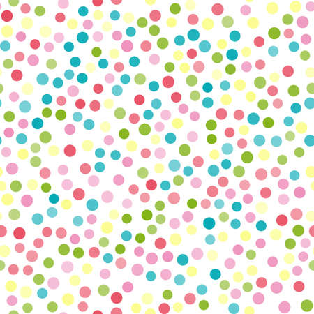 Seamless pattern with colorful dots. Vector Banco de Imagens - 154672603