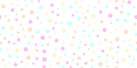 Seamless pattern with random colorful dots on white background. Vector