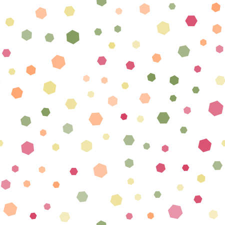 Seamless pattern with colorful hexagons. Vector Ilustração