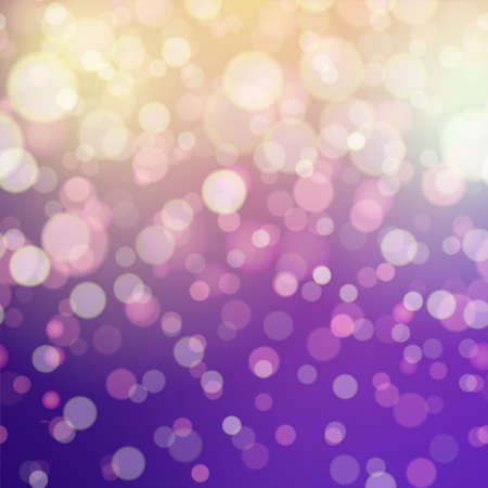 Abstract pink background with defocused lights. Vector.