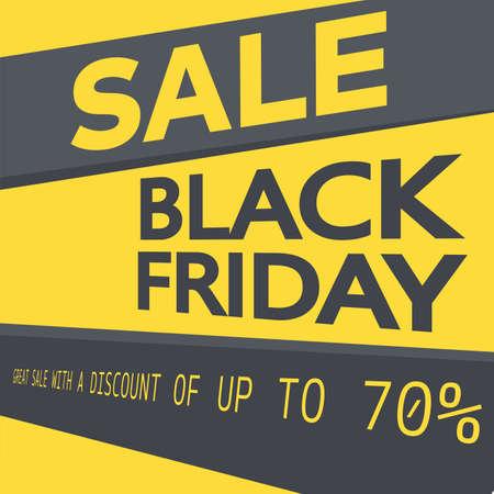 Black Friday sale card background. Vector.