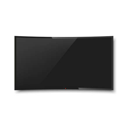 Realistic TV, modern blank screen lcd, led. Vector.