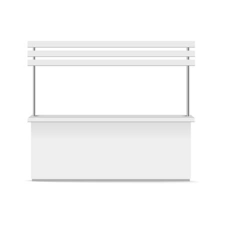 Blank promotion stand on a white background. Vector