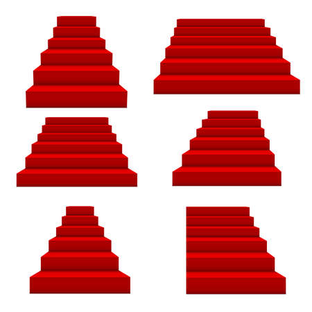 Festive events red stairs. Vector
