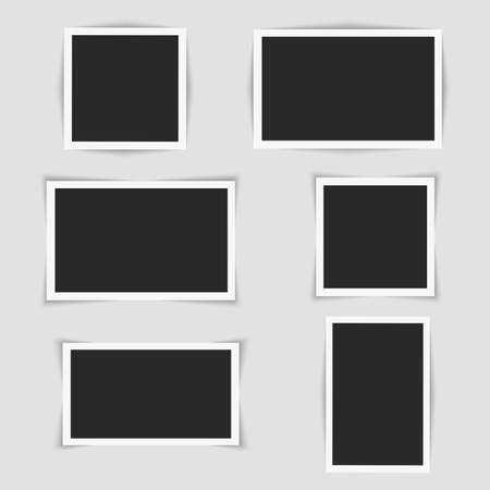 Set of square photo frames. Vector