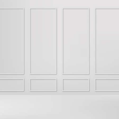 Abstract white gradient background. Empty studio. Vector. Ilustração