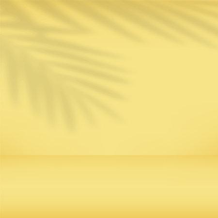 Abstract yellow gradient background. Empty studio. Vector.